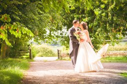 wedding, bride, cherry, trees, english countryside, vintage, downton abbey,